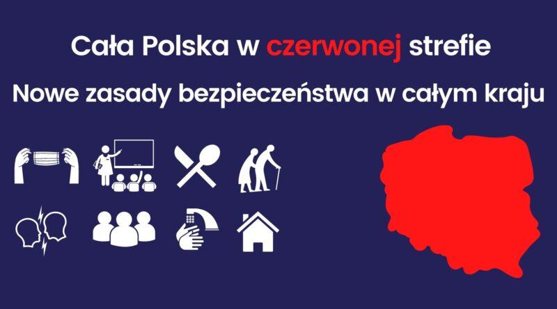 Od 24.10 cała Polska objęta jest strefą czerwoną
