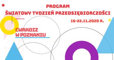 Światowy Tydzień Przedsiębiorczości 16-22.11.2020 w Centrum Wsparcia Rzemiosła, Kształcenia Dualnego i Zawodowego w Poznaniu