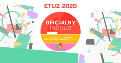 Grafika oficjalnego partnera Europejskiego Tygodnia Umiejętności Zawodowych organizowanego w dniach 9-13 listopada 2020, którym jest CWRKDiZ w Poznaniu